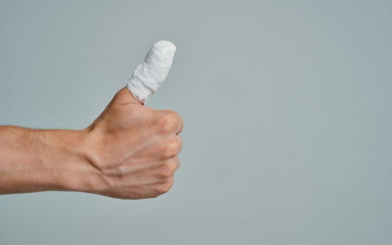 12-year-old boy thumb injury